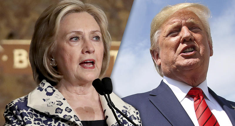 Hillary Rodham Clinton and President Donald Trump. (Photos: Win McNamee/Getty Images, Jonathan Ernst/Reuters)