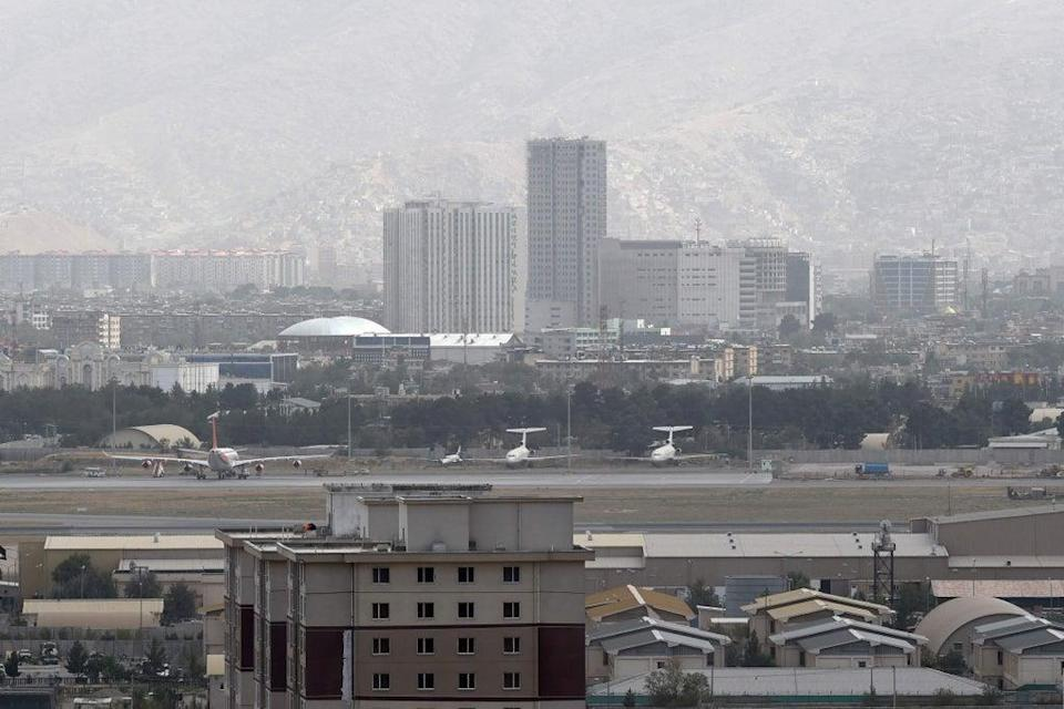 Kabul airport. A number of countries including the UK have rushed to evacuate their citizens from Afghanistan as Taliban advance on the capital (AFP via Getty Images)