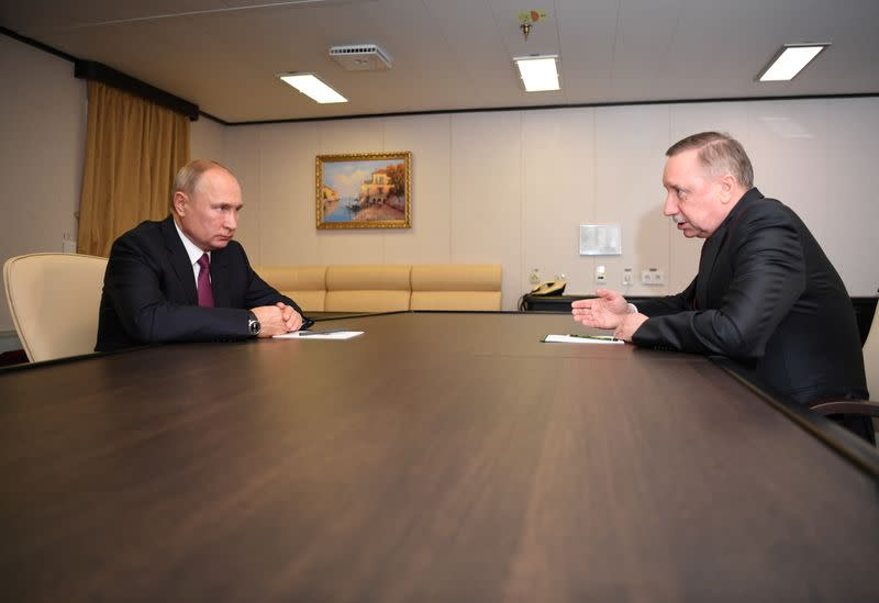 Russian President Putin meets with governor of Saint Petersburg Beglov in Saint Petersburg