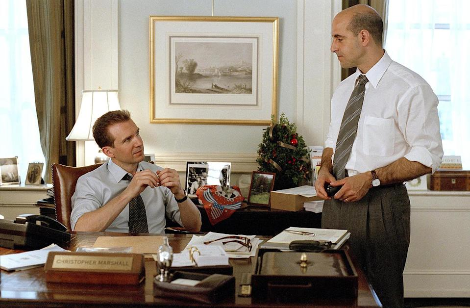 <p>In 2002, Tucci played assistant Jerry Siegal in the romantic comedy <em>Maid in Manhattan</em>, keeping his boss (Ralph Fiennes) in check — or at least as much as he could amid running errands and walking his dog. </p>