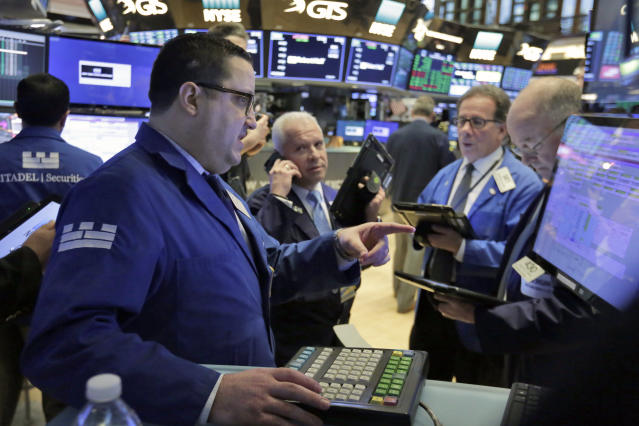The holiday-shortened trading week has been a choppy one for investors with each of the major averages down for the week ahead of Friday's trading session. (AP Photo/Richard Drew)