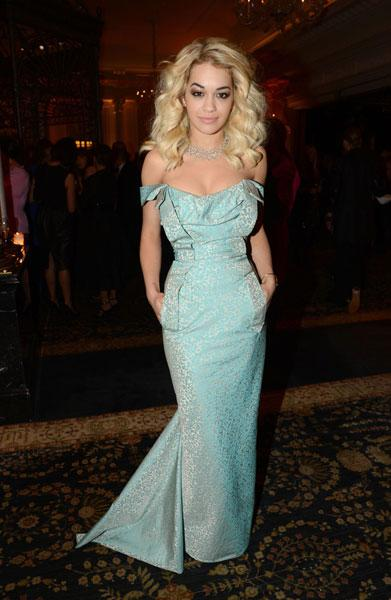 "<b>Rita Ora</b><br><br>The RIP singer flaunted her figure in this mint-green, strapless Vivienne Westwood gown at the British Fashion Awards in London this week. <br><br><a target=""_blank"" href=""http://uk.lifestyle.yahoo.com/photos/top-10-best-dressed-celebrities-this-week-9-15-nov-slideshow/""><b>Rita Ora – best dressed celebrity</b></a><br><br>Image © Rex"