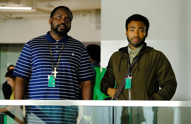 Brian Tyree Henry as Alfred Miles, Donald Glover as Earnest Marks in <em>Atlanta: Robbin' Season.</em> (Photo: Guy D'Alema/FX)