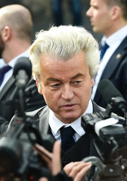 Dutch far-right Freedom Party leader Geert Wilders has seen his ratings slip ahead of the March 15 vote (AFP Photo/JOHN THYS)