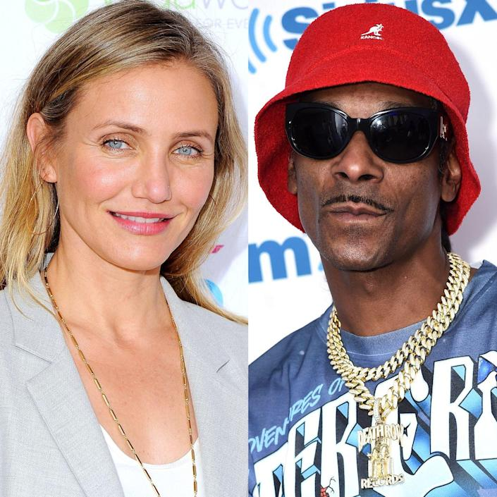 """<p>The California natives were students at Long Beach Polytechnic High School, and though they didn't exactly run in the same circles, they did have a lot of mutual friends. """"[Diaz] ran with my homegirls, all my little cheerleading homegirls,"""" Snoop said in an exclusive interview with <a href=""""https://www.yahoo.com/entertainment/bp/snoop-dogg-recalls-high-school-days-cameron-diaz-221306772.html"""" data-ylk=""""slk:Yahoo! Music;outcm:mb_qualified_link;_E:mb_qualified_link;ct:story;"""" class=""""link rapid-noclick-resp yahoo-link"""">Yahoo! Music</a> back in 2013. """"She was in [their] little crew. She was fly, and she was hip.""""</p>"""