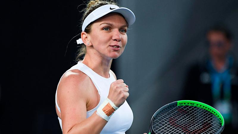 Seen here, Simona Halep this week became the latest top-10 player to drop out of the US Open.