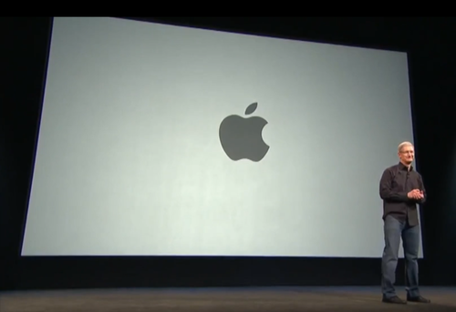 Apple CEO Tim Cook onstage