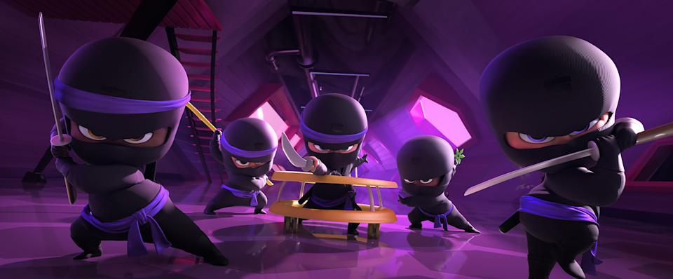 Baby ninjas in The Boss Baby: Family Business, directed by Tom McGrath.