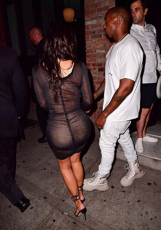 Kim's famous for her butt! Source: Getty