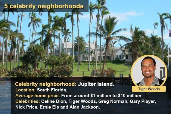 5 celebrity neighborhoods - Jupiter Island