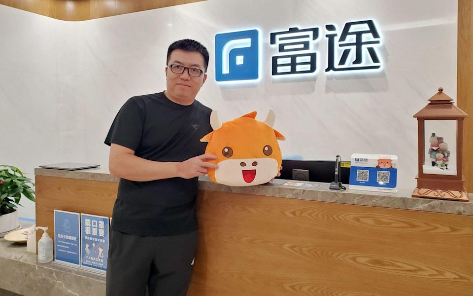 Futu Holdings founder and chairman Leaf Li Hua poses for a picture at the Headquarter of Futu Holdings in Shenzhen. 09DEC20 SCMP/ Iris Ouyang