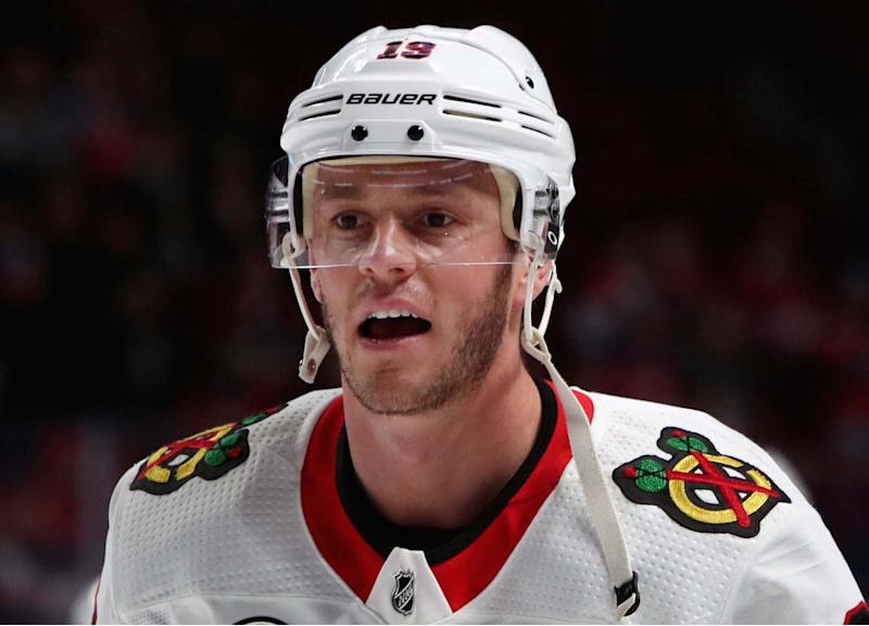 Chicago Blackhawks captain Jonathan Toews hinted that he's skeptical of the NHL's intentions heading into talks regarding the collective bargaining agreement. (Jean-Yves Ahern-USA TODAY Sports)