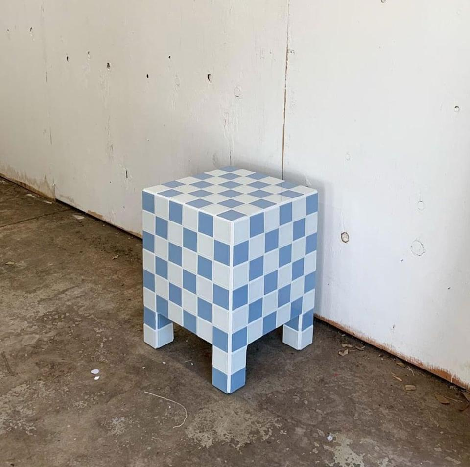 """<p>""""I've been redoing my childhood room with stylish new pieces that feel more modern and this <span>Willow Checkered Side Table</span> ($550) feels like a fashion statement on its own. Just look at it! I can already imagine myself taking photos of cute jewelry pieces on it. Willow was started by Gretta Solie and Alex Cutler in the spring of 2020 out of a love and appreciation for tiles and using them in non-conventional ways. The brand sources all of its tiles from a family owned business on the East Coast and makes each piece by hand from start to finish in their studio in Los Angeles."""" - NC</p>"""