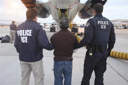 Handout of former Guatemala army member Rios being transferred to a plane in Mesa, Arizona