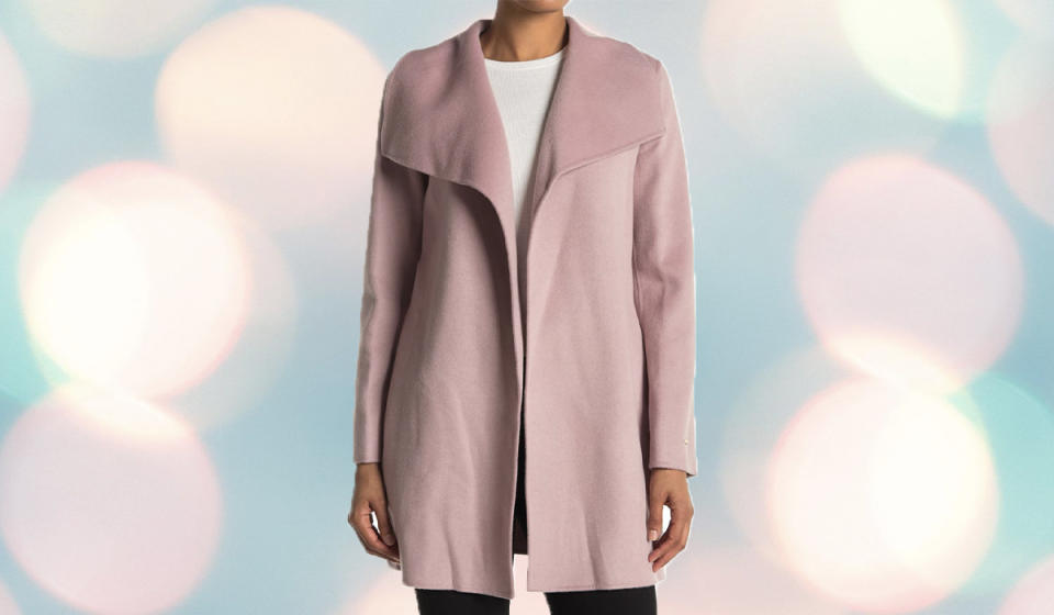 This blush pink coat is the perfect addition to any wardrobe. (Photo: Nordstrom Rack)