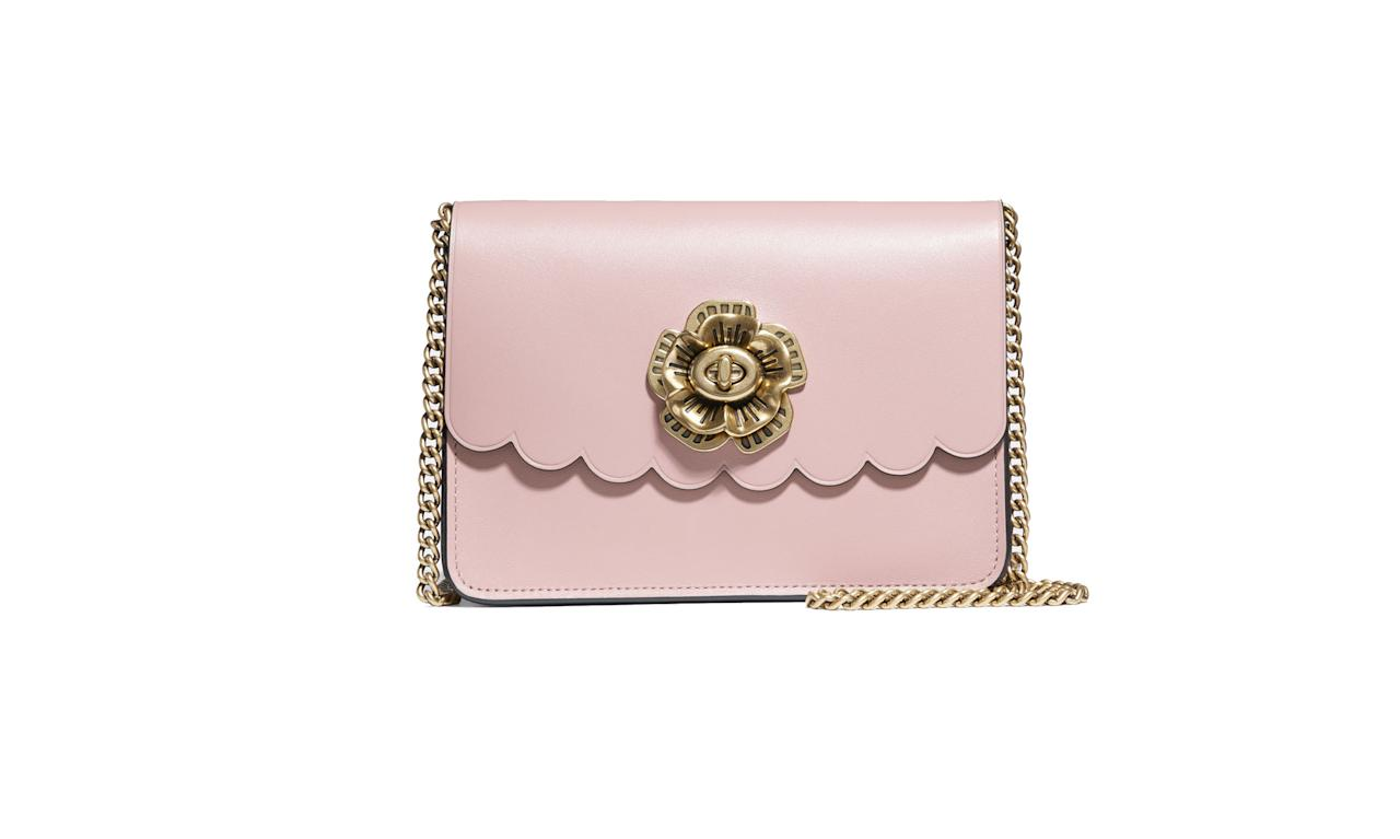 "<p>This is the perfect lady bag for all occasions.<br /><br />Bowery Crossbody with Tea Rose Turnlock, $250, <a rel=""nofollow"" href=""https://www.coach.com/coach-bowery-crossbody-with-tea-rose-turnlock/24976.html?cgid=women-handbags-shoulder-bags&dwvar_color=OLPEO"">coach.com</a> </p>"