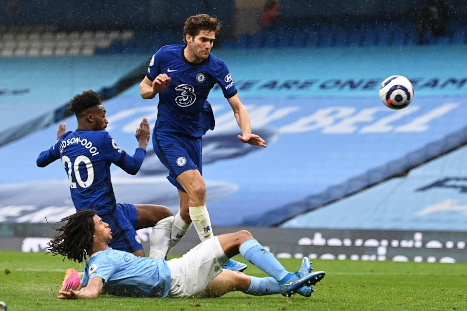 <p>Marcos Alonso scored the winner</p> (Getty Images)