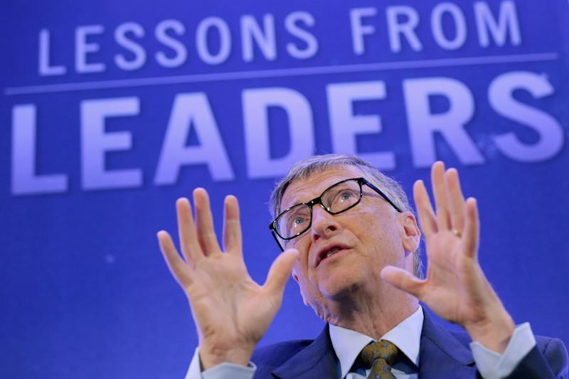 Bill Gates, co-chair of the Bill and Melinda Gates Foundation, talks about the Ebola crisis in West Africa on September 29, 2014 in Washington, DC