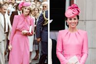 Princess Diana in 1983; Kate Middleton wearing Alexander McQueen in 2017