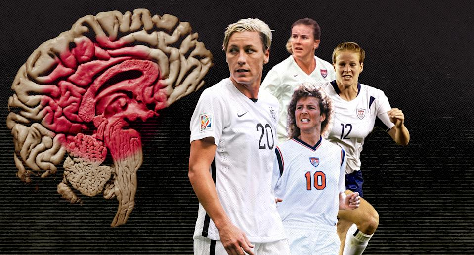 Abby Wambach and other USWNT legends are doing their part to close the gender gap in female athlete brain research. (Paul Rosales/Yahoo Sports)