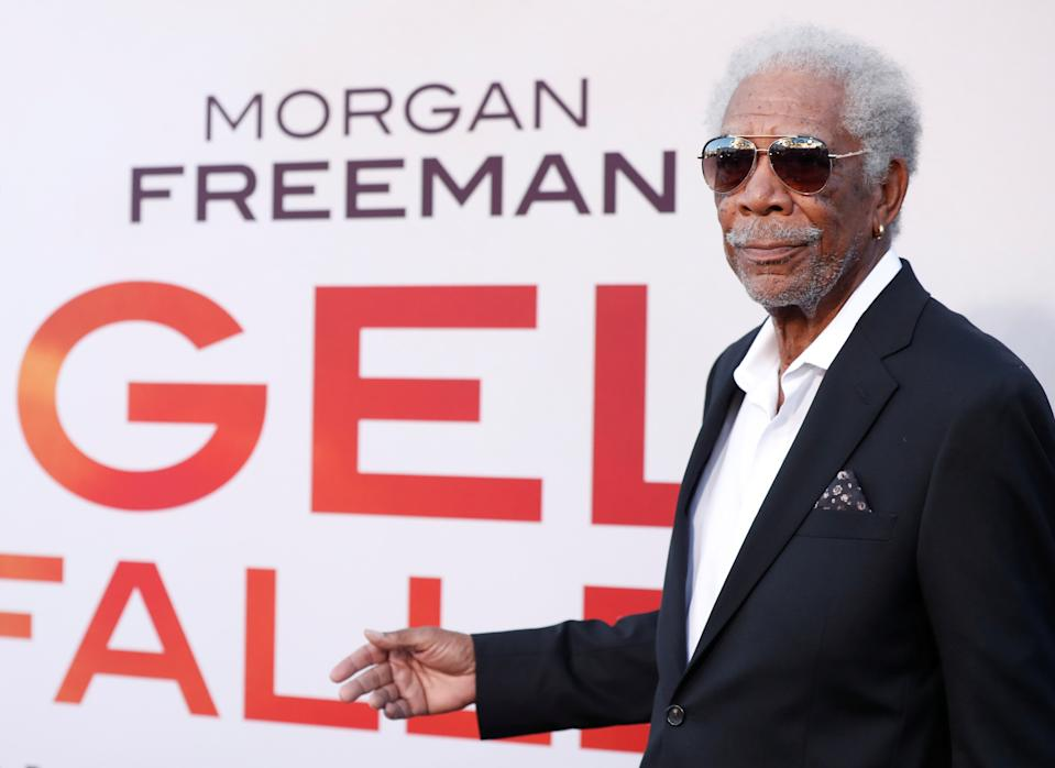 """Morgan Freeman attends the premiere for the film """"Angel Has Fallen"""" in Los Angeles, California, U.S., August 20, 2019. REUTERS/Mario Anzuoni"""