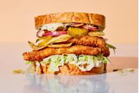 """This recipe has all the makings for your new favorite classic fish sandwich. <a href=""""https://www.epicurious.com/recipes/food/views/crispy-fish-sandwich?mbid=synd_yahoo_rss"""" rel=""""nofollow noopener"""" target=""""_blank"""" data-ylk=""""slk:See recipe."""" class=""""link rapid-noclick-resp"""">See recipe.</a>"""