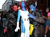 <p>Cosplayers dressed as Azazel, Mystique, and Nightcrawler at Comic-Con International on July 20, 2018, in San Diego. (Photo: Phillip Faraone/Getty Images) </p>