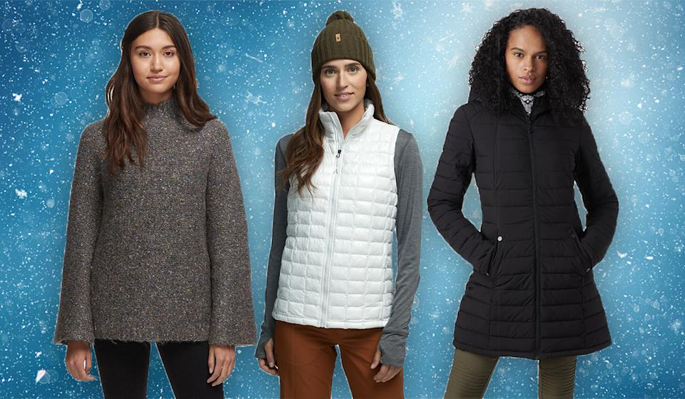 Sweaters, vests, and coats are on sale at shocking December discounts. (Photo: Backcountry)