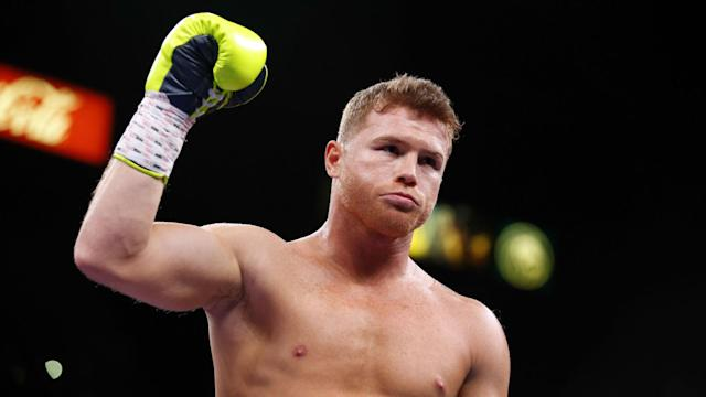 Saul 'Canelo' Alvarez has handed over the belt he won by beating Russian Sergey Kovalev in Las Vegas.