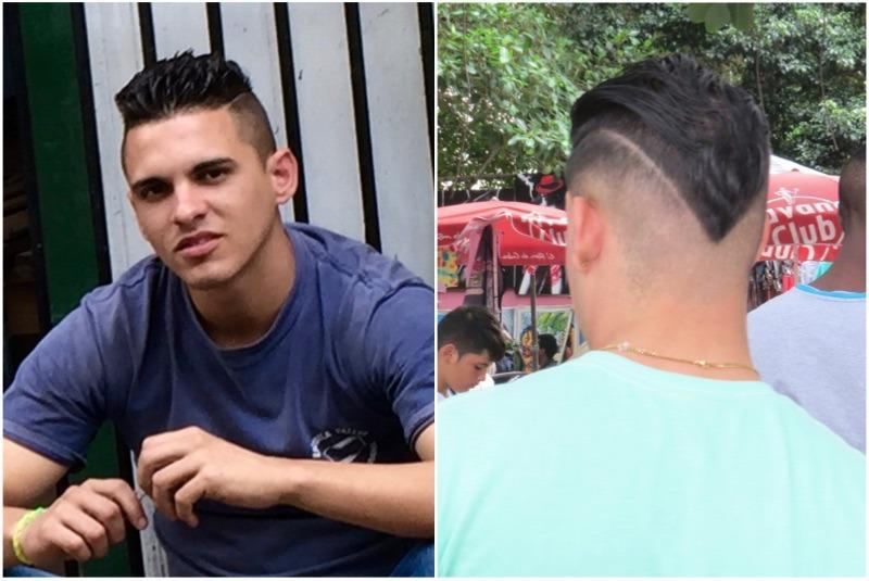 <p><i>El clásico</i> is a variation on a fade. It starts out thick on top and becomes more close-cropped down toward the neck. What distinguishes <i>el clásico</i> is a shaved line on one side of the head. <i>(Photo: Lara Naaman)</i><b><br></b></p>