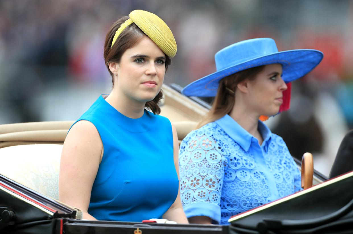 Princess Eugenie of York (left) and Princess Beatrice of York during day one of Royal Ascot at Ascot Racecourse.