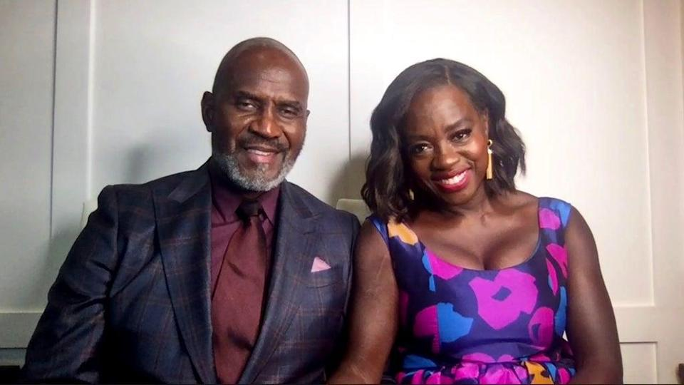 UNSPECIFIED LOCATION – MARCH 27: (L-R) In this screengrab, Julius Tennon and Viola Davis, winner of Outstanding Actress in a Drama Series and Outstanding Actress in a Motion Picture categories speak at the 52nd NAACP Image Awards Virtual Press Conference on March 27, 2021 in Various Cities. (Photo by Getty Images/Getty Images for NAACP Image Awards)