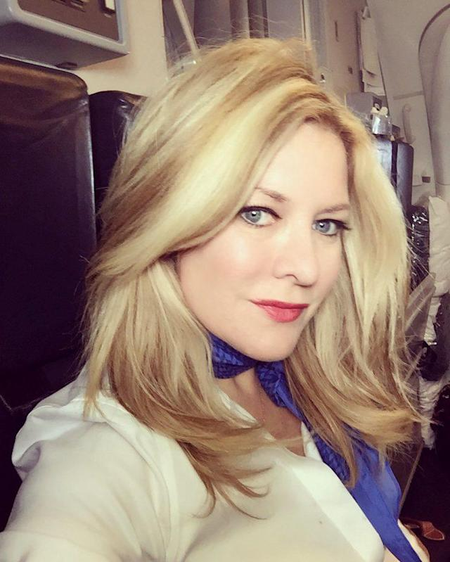 "Author and veteran flight attendant Heather Poole is campaigning for airline industry reform regarding flight attendant health and uniforms. (Photo: <a href=""https://medium.com/@HeatherPoole"" rel=""nofollow noopener"" target=""_blank"" data-ylk=""slk:Heather Poole, Medium"" class=""link rapid-noclick-resp"">Heather Poole, Medium</a>)"
