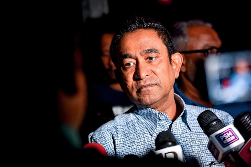 Yameen, who jailed many of his opponents during his tenure, was arrested last month (AFP Photo/Ahmed SHURAU)