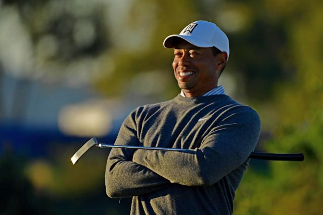 "It's a new day for <a class=""link rapid-noclick-resp"" href=""/pga/players/147/"" data-ylk=""slk:Tiger Woods"">Tiger Woods</a>, who tees it up Thursday in the Farmers Insurance Open. (Getty)"