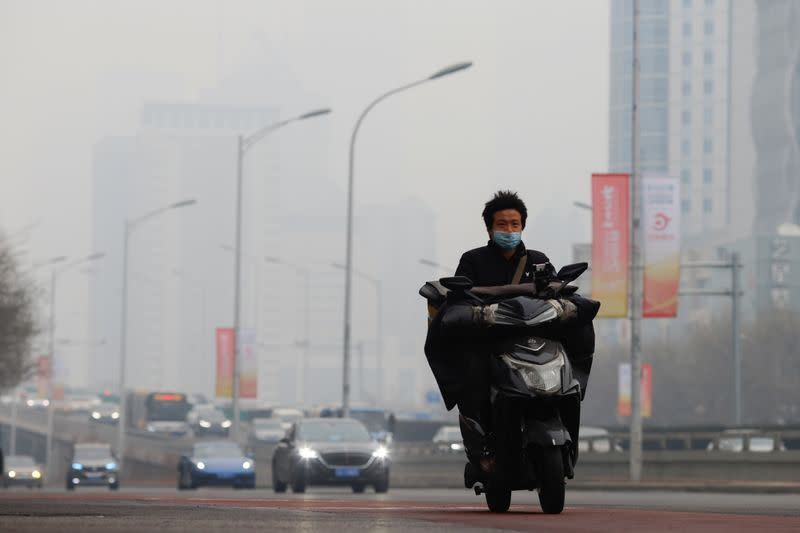 wPolluted day in Beijing