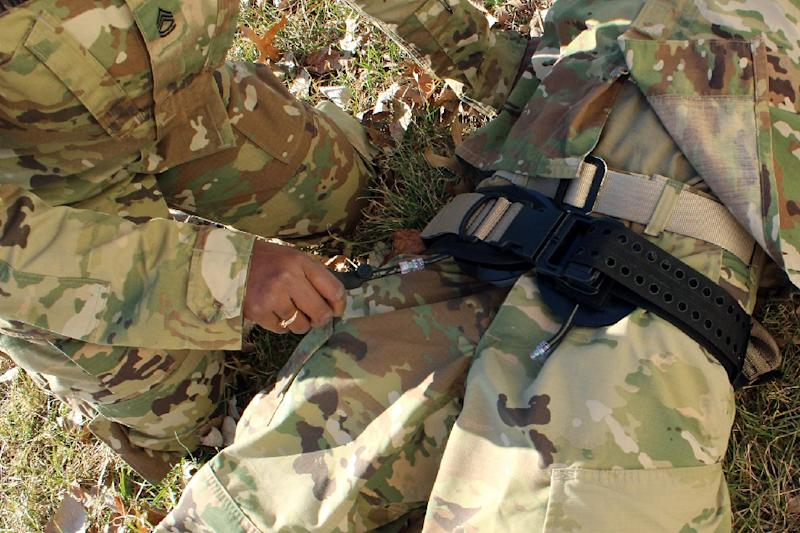 The first recorded combat use of a junctional tourniquet, which can be used on a pelvis or an armpit, was in Afghanistan in 2014 (AFP Photo/Ellen Crown)