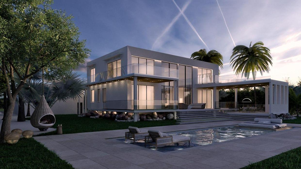 David Meadors' Cayman Brac home after completion.