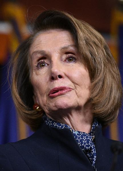"Speaker-designate Nancy Pelosi vowed to ""move swiftly"" to defend Obamacare when the Democrats regain control of the House of Representatives in January 2019 (AFP Photo/MANDEL NGAN)"