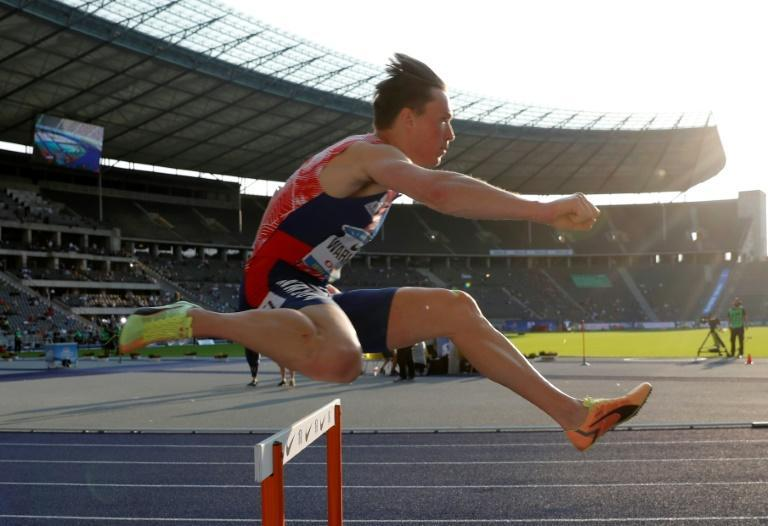 Norway's Karsten Warholm holds the second fastest time in the 400m Hurdles.