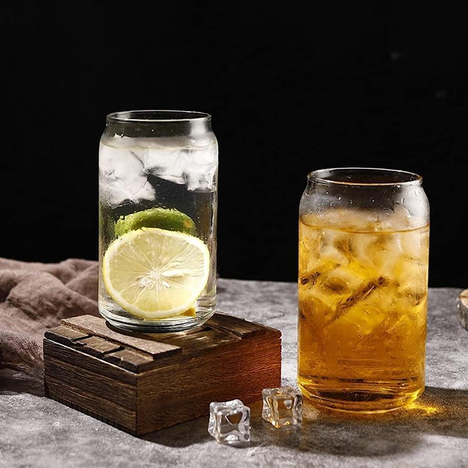 <p>From iced coffees to beer and wine, these <span>Can Shaped Glasses </span> ($22 for six) will be your new drinkware of choice. They are so stylish and sleek and make your drinks like oh so fancy.</p>