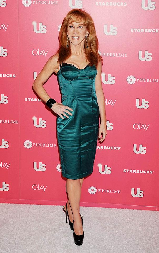 """Kathy Griffin proudly rocked the red carpet. The self-proclaimed D-lister (but not really) has been making the rounds promoting her upcoming special, """"Kathy Griffin's Insightful & Hilarious Take On the Royal Wedding,"""" premiering Friday, April 29 on the TV Guide Network. Jeffrey Mayer/<a href=""""http://www.wireimage.com"""" target=""""new"""">WireImage.com</a> - April 26, 2011"""