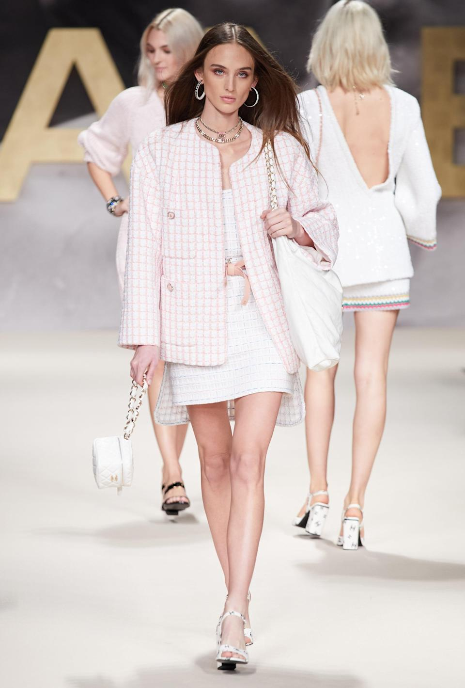 <p>We definitely needed this oversized version of Chanel's signature jacket. </p>