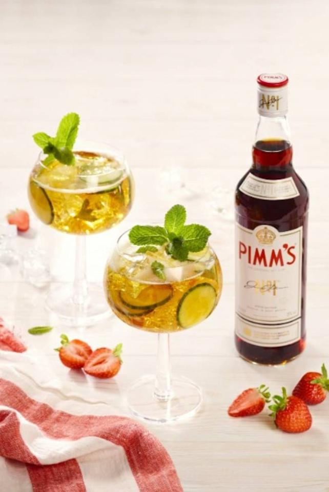 """<p>You're likely familiar with a jug of the traditional summer Pimm's cocktail, but this is a twist on the classic - and one that you'll want to enjoy all year round. The <a href=""""https://www.anyoneforpimms.com/recipes/pimm-s-no1-spritz"""" target=""""_blank"""">recipe</a> combines 50ml Pimm's No.1 with 75ml lemonade, 25ml sparkling wine and a garnish of cucumber and mint.</p>"""