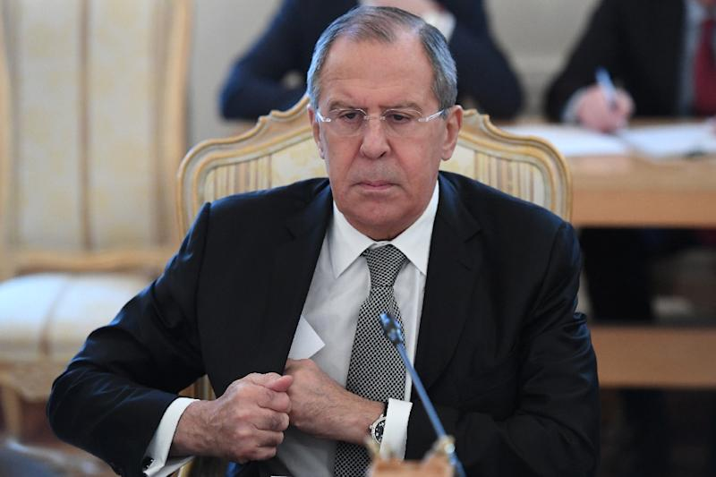 "Russian Foreign Minister Sergei Lavrov reaffirmed Russia's position that accusations that the Syrian regime had launched a chemical weapons attack on the Syrian town of Khan Sheikhun last week ""are not in line with reality"""