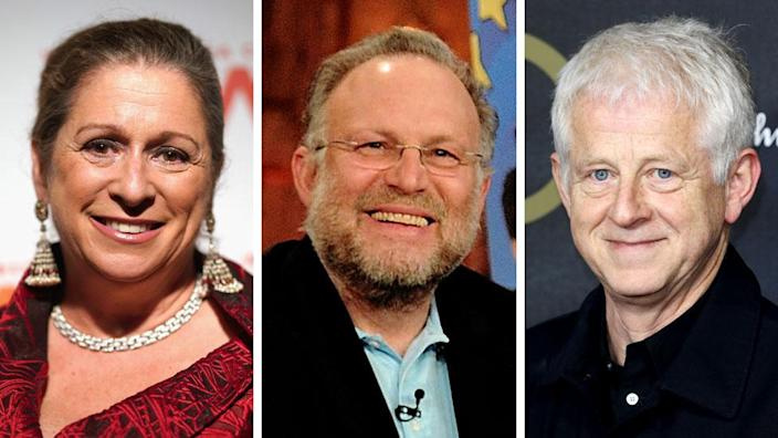 Abigail Disney (left), Jerry Greenfield and Richard Curtis are among the letter's signatories