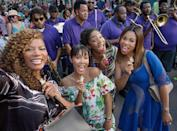 """<p>It may stick to the typical """"women behaving badly"""" formula of its premise, but <em>Girls Trip</em> is ultimately a story about female empowerment, where finding love isn't the goal and happy endings can mean finding true friendship instead. As you may have heard, Tiffany Haddish steals the film as the funemployed Dina, who would do anything — literally <em>anything</em> — for her friends, and in turn would make anyone want to join """"the flossy posse."""" <em>— Jen Kucsak </em>(Photo: Everett Collection) </p>"""
