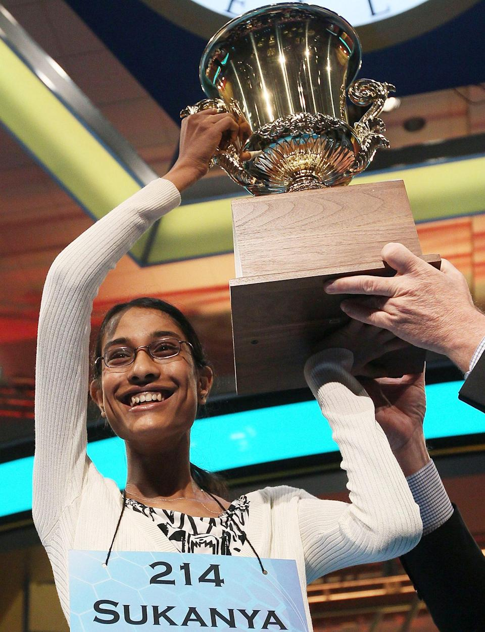 <p><strong>Winner: </strong>Sukanya Roy</p> <p><strong>Word they won with: </strong>cymotrichous</p>
