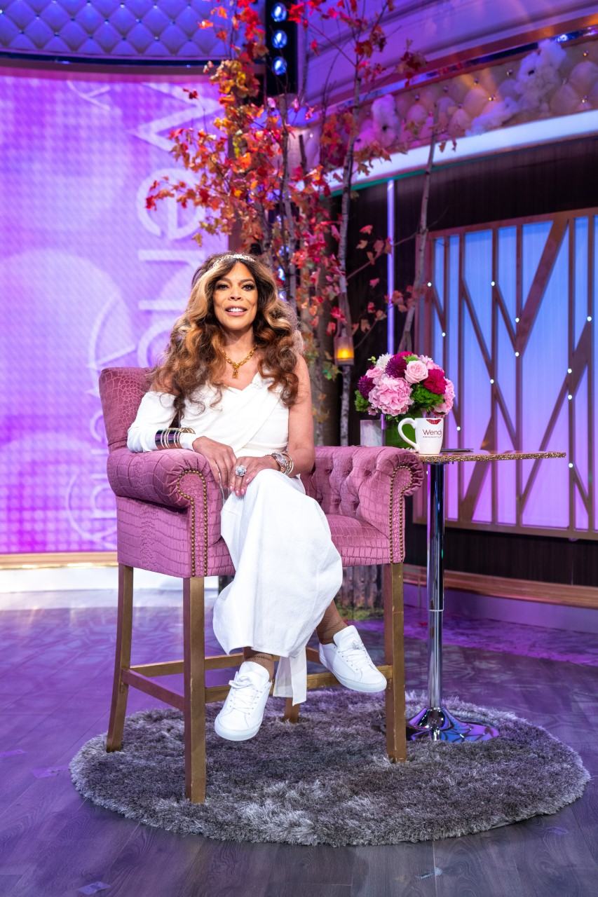 Wendy Williams dons a Rick Owens dress as a toga on the Halloween episode of her daytime talk show.
