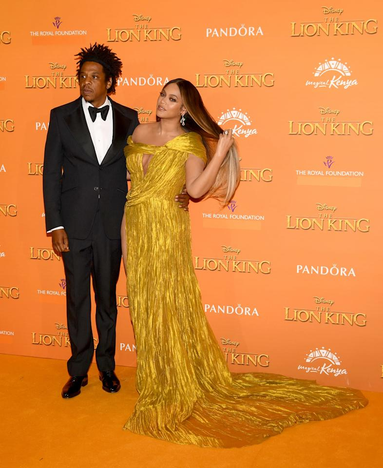 <p>Pictured: JAY-Z and Beyoncé at <strong>The Lion King</strong> premiere in London.</p>